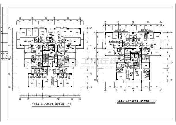 某地上二十六层商住楼给排水成套图纸(高82米)-图2