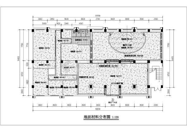 点击查看某厂房室内装修设计全套施工图(6层框架结构 含室内装饰、电气、给排水专业)第1张大图