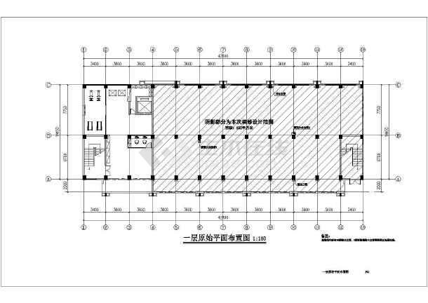 点击查看某厂房室内装修设计全套施工图(6层框架结构 含室内装饰、电气、给排水专业)第2张大图