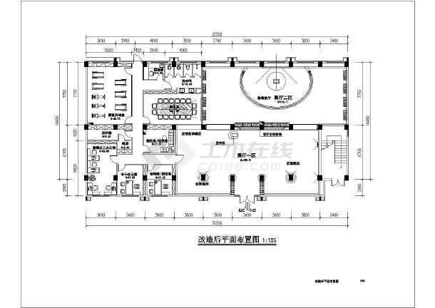 某厂房室内装修设计全套施工图(6层框架结构 含室内装饰、电气、给排水专业)-图2