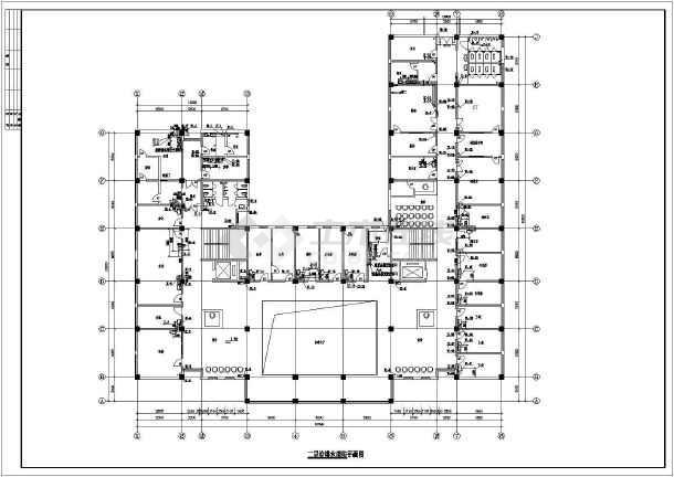 某5460平方米四层医院门诊楼给排水施工图-图二