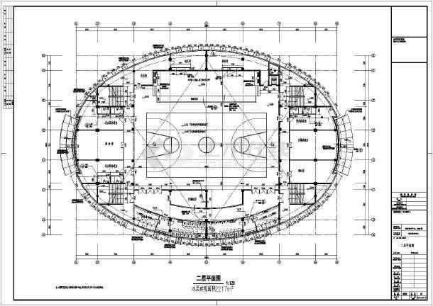 [UFO造型]底部框架屋顶网架结构艺术中心结构施工图(含详细建筑图)-图3