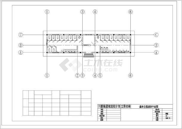 点击查看[开源]某公园厕所建筑施工图第1张大图