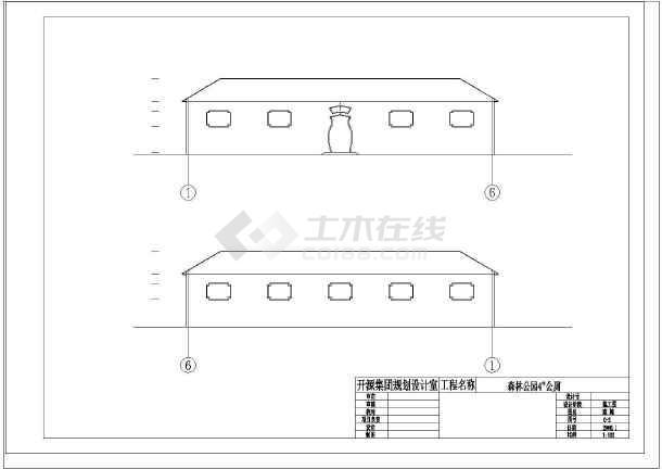 点击查看[开源]某公园厕所建筑施工图第2张大图