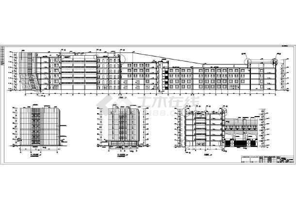 全运会教育科研基地建筑及结构施工图(科研教学楼餐饮中心运动员公寓)-图一