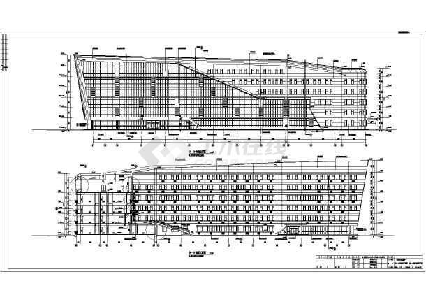 全运会教育科研基地建筑及结构施工图(科研教学楼餐饮中心运动员公寓)-图二