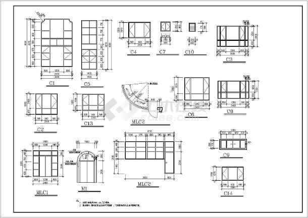 [江西]600㎡四层异形柱框架结构别墅结构施工图(600平含建筑图)-图一