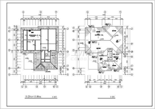 [江西]600㎡四层异形柱框架结构别墅结构施工图(600平含建筑图)-图二