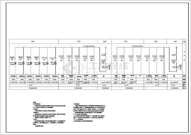 某地上十层大厦电气施工图纸(二级负荷)-图1