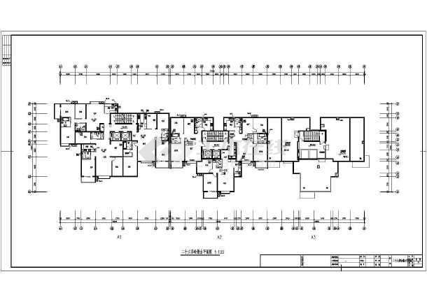 点击查看某地上二十八层住宅给排水平面及系统图第2张大图