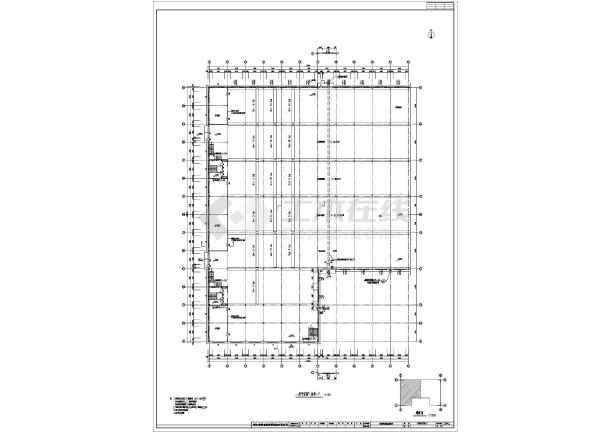 某典型钢结构厂房图纸(含建筑设计说明)-图一
