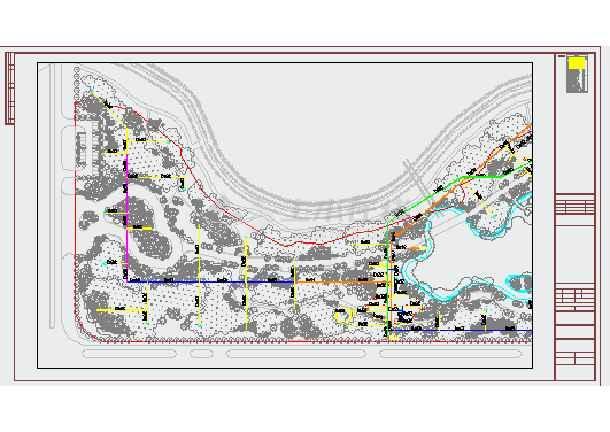 [江西]公园景观给排水施工图-图一