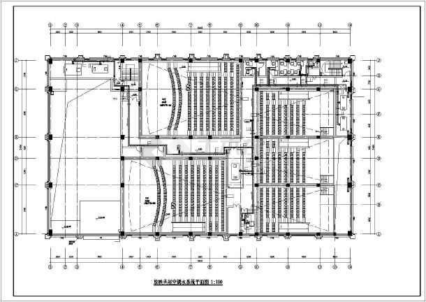 某电影院暖通设计图(含管线综合平面图、大样详图等)-图一
