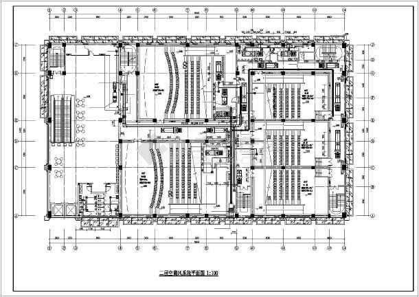某电影院暖通设计图(含管线综合平面图、大样详图等)-图2