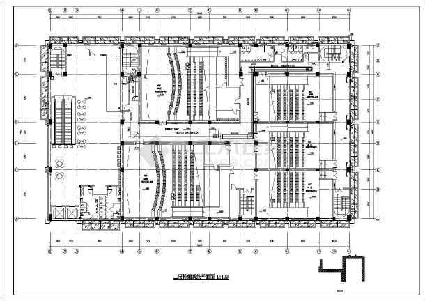 某电影院暖通设计图(含管线综合平面图、大样详图等)-图3