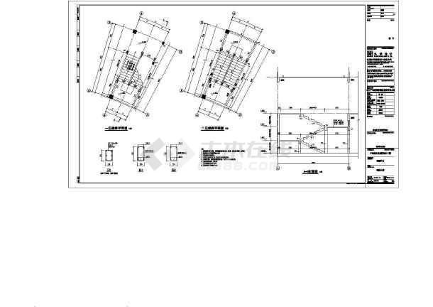 知名湖畔游客中心、导服中心、停车场、公厕结构施工图-图3