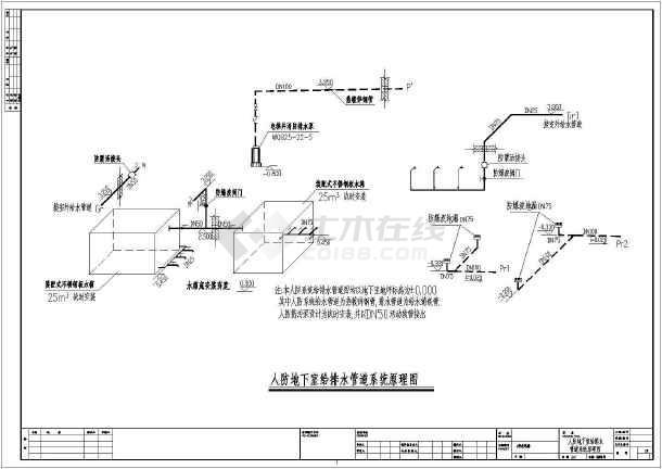 点击查看陕西省某二十六层住宅给排水初步设计成套图纸第1张大图