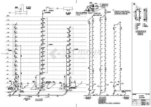 某十八层住宅楼建筑给排水设计图-图3