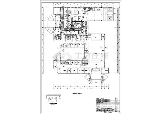 某7025㎡三层医院综合楼暖通图纸-图二