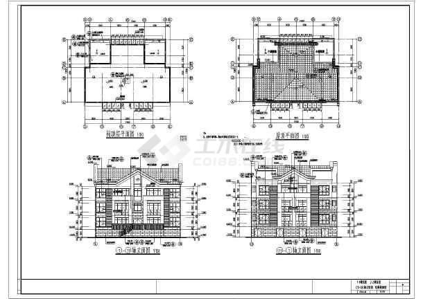 点击查看[江西]888平三层框架结构别墅结构施工图(含建筑图)第1张大图