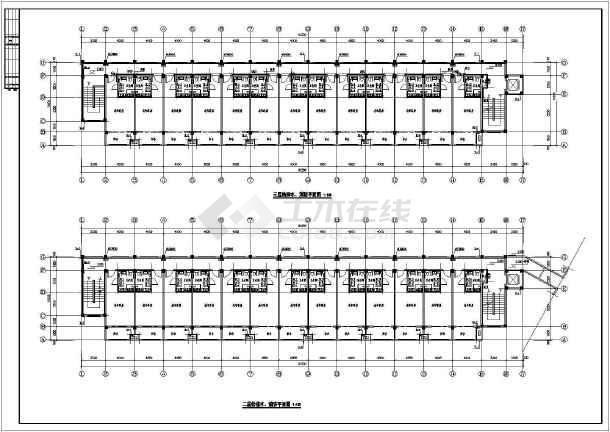 某三层敬老院全套给排水施工图-图1