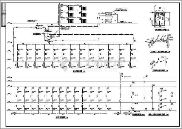 某三层敬老院全套给排水施工图-图3