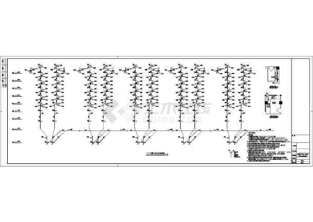 点击查看某地上八层商住楼给排水施工图(含设计说明)第1张大图