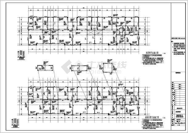 [[山东]2447.43㎡四层框架剪力墙结构南苑别墅结构施工图(含建筑图)-图3
