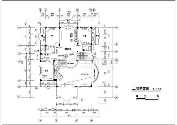 [福建]950平四层框架结构别墅结构施工图(含建筑图)-图一