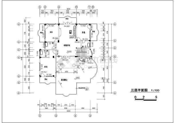 [福建]950平四层框架结构别墅结构施工图(含建筑图)-图1