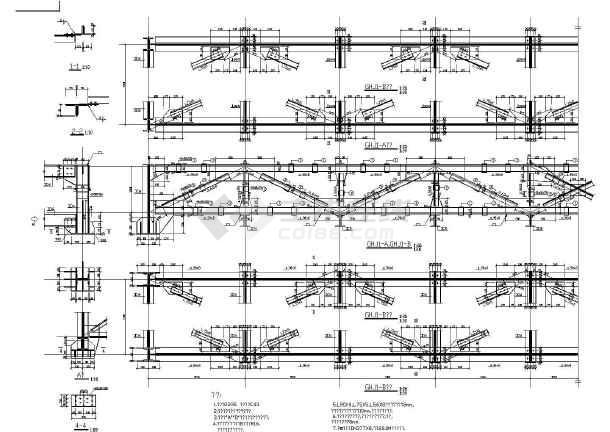 某28米跨钢结构桁架图纸,共2张图-图二