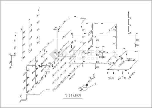 某学院五层综合楼采暖通风图-图1