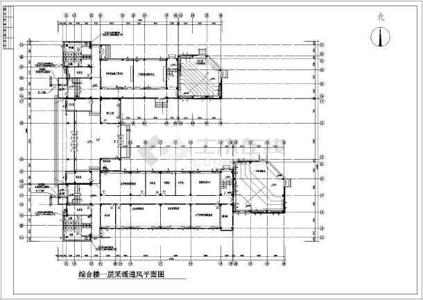 某学院五层综合楼采暖通风图-图2