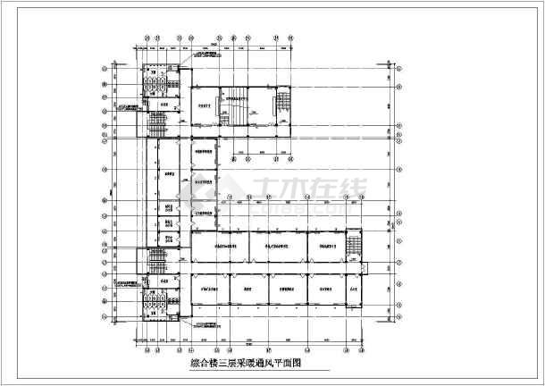 某学院五层综合楼采暖通风图-图3