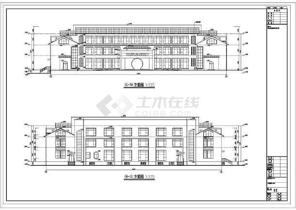 点击查看[张家港]三层框架结构体育公园用房结构施工图(含建筑图带阁楼)第2张大图
