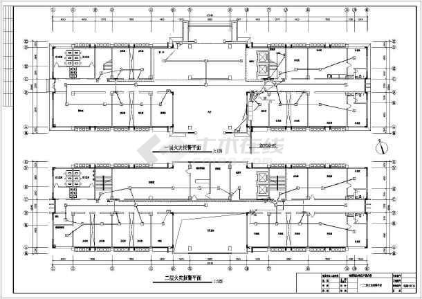 某七层检察院电气设计图-图一