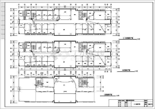 某七层检察院电气设计图-图二
