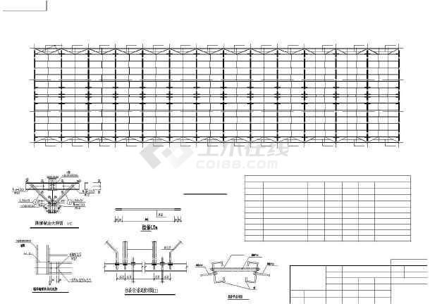 点击查看某H型钢钢结构建筑结构图,共10张第2张大图