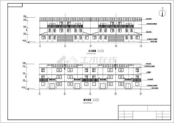 某三层别墅建筑、结构全套图纸(含手算计算书)-图二