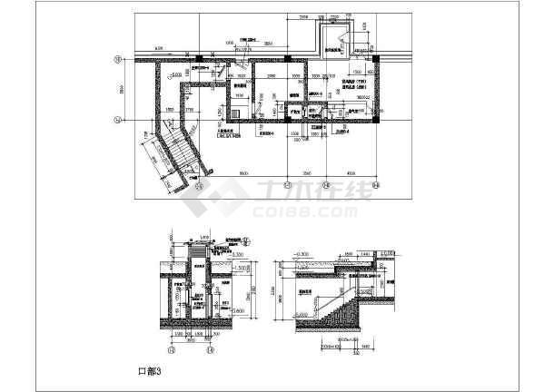 苏州某地下一层框架结构园区四区车库建筑结构图纸-图一