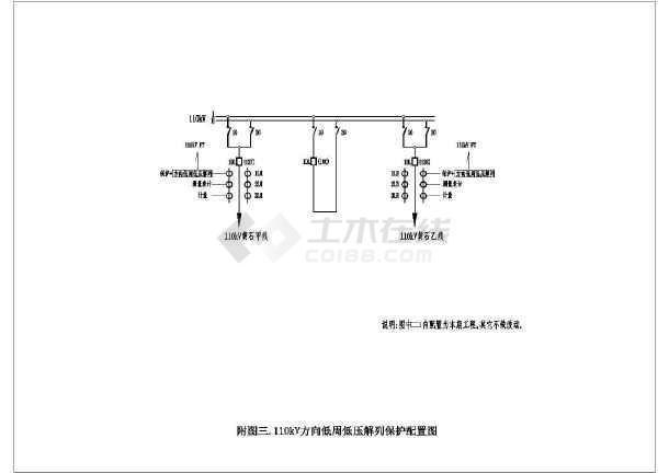 某电站微机保护装置电气设计图-图二