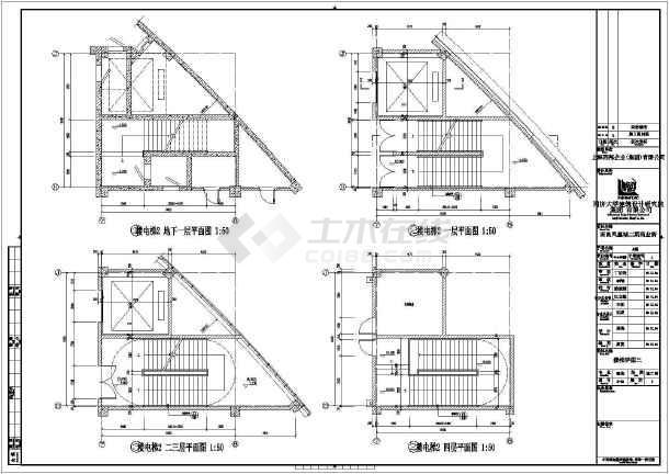 [江西]7.8万平八单体商业街结构施工图(含建筑图)-图二