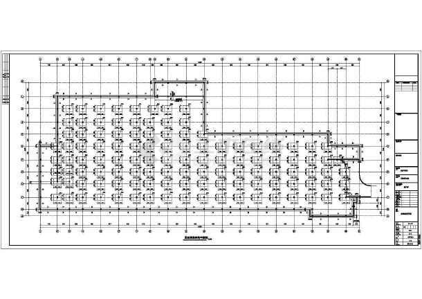 某6084㎡187个车位地下停车库结构施工图(含建筑图)-图一