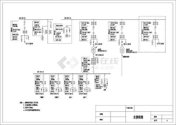 点击查看35KV变电站电气二次系统控制原理图第1张大图
