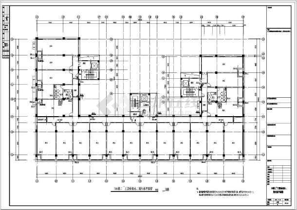 全套20926.6㎡八层办公楼给排水设计图-图3