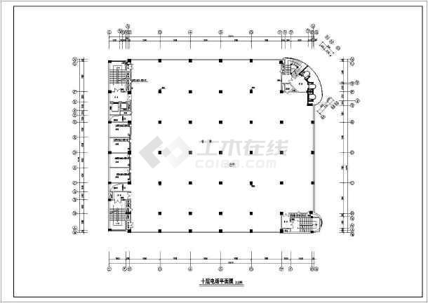 某44261.4㎡高层商场电气施工图-图3