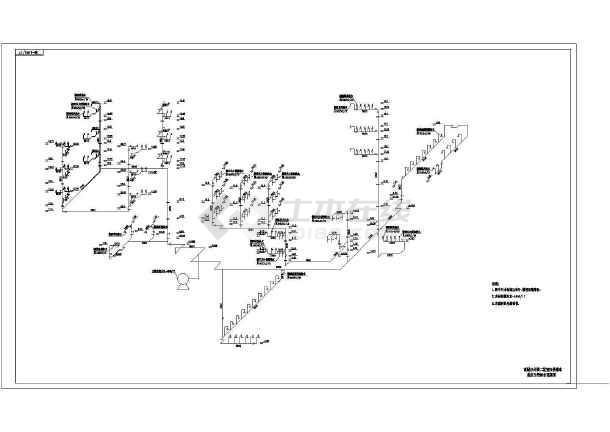 某高层办公楼室内给排水图纸-图1