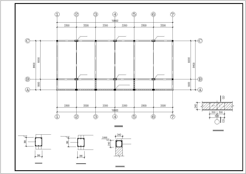 某砖混钢木屋架结构设计图图片3