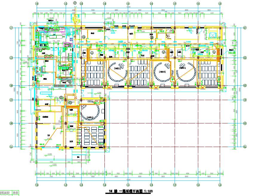 徐州某学校采暖设计详图及采暖系统图(四层,建筑面积3093平方米)图片1
