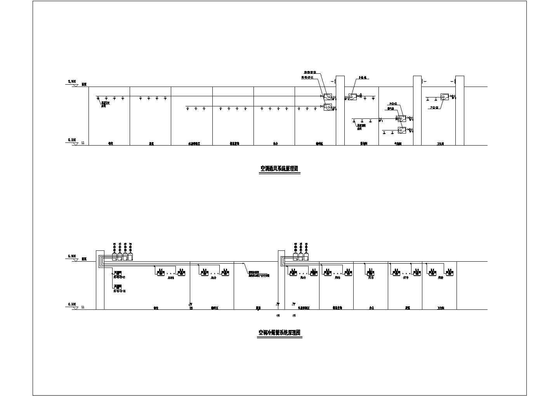 [湖南]1474�O服务中心VRV空调通风防排烟系统设计施工图(含负荷计算)图片2